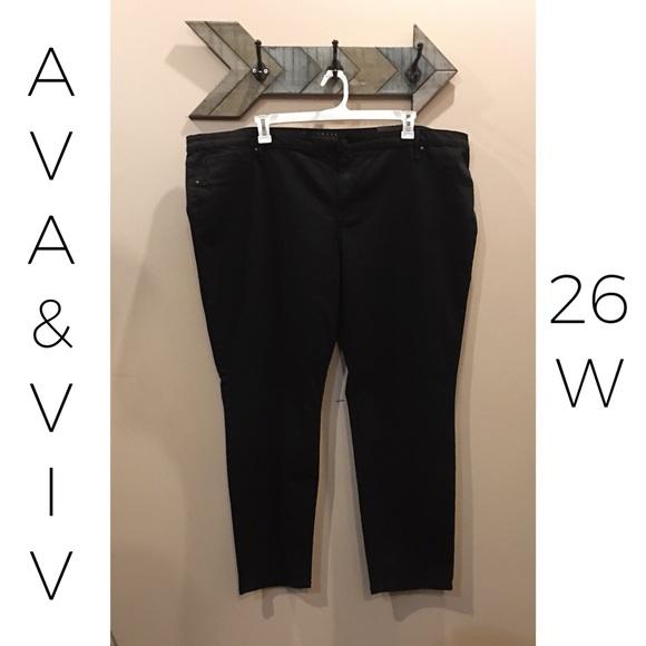 39db3f24d7b89 Ava & Viv Jeans | Womens Plus Black Denim Super Stretch Jegging ...